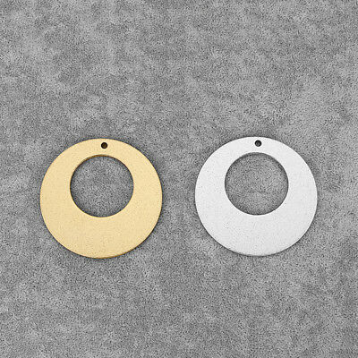2Pcs Silver/Gold Tone Aluminum Alloy Open Round Circle Charms Pendants Jewelry