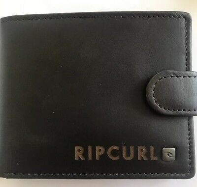 Ripcurl Mens Wallet Leather RFID Genuine Brown New CLIPPER 2 In 1 GIFT RRP 69.99