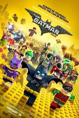 THE LEGO BATMAN MOVIE great original 27x40 D/S movie poster (s001)