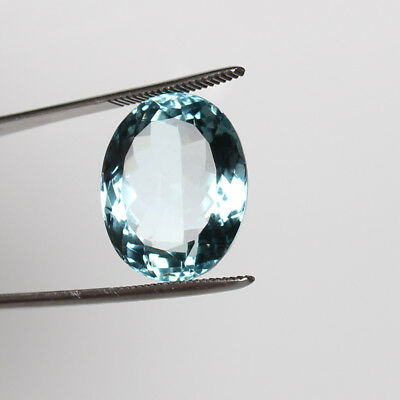 28.40 Ct. Natural Aquamarine Greenish Blue Color Finest Oval Cut Loose Gemstone