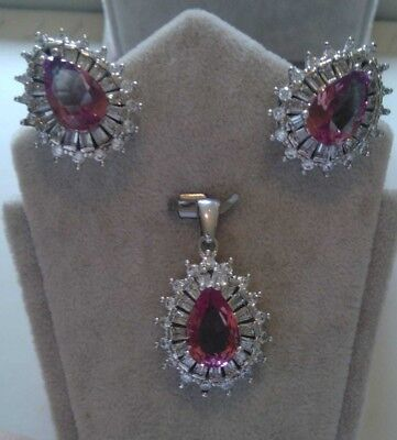 Aaa Quality 925 Silver Jewelry Alexandrite Gem - Color Changing - Earrings Set