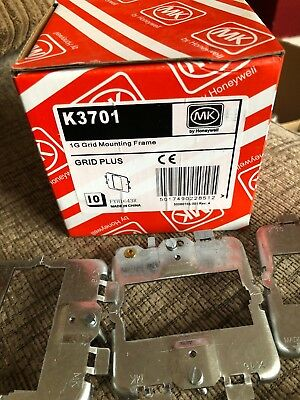 Box Of 10 Mk K3701 1G Gird Mounting Frame Grid Plus Plate New For Switches