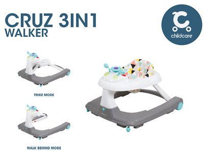 Childcare 3-in-1 Cruz Baby Walker With Light Music Removable Seat Toddler Gift