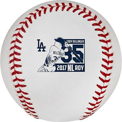 Cody Bellinger Los Angeles Dodgers 2017 NL Rookie of the Year Logo Baseball