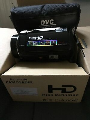 24.0 Megapixel Full HD Night Vision Digital Video Camera Camcorder With Case Etc