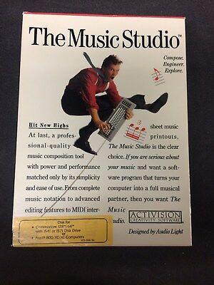 The Music Studio by Activision Boxed - For Commodore 64 or Atari 800/XE/XL