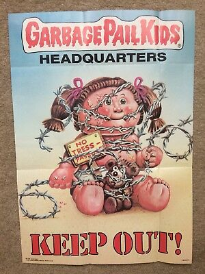1986 Garbage Pail Kids Poster ~ KEEP OUT! #6 ~ Vintage ~ Topps ~ Pack Fresh