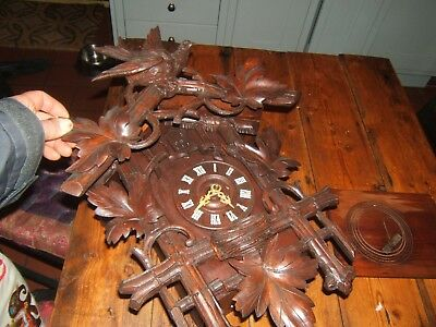 Black Forest Cuckoo Clock  Could Be Restored Needs Pendulum Vintage Antique