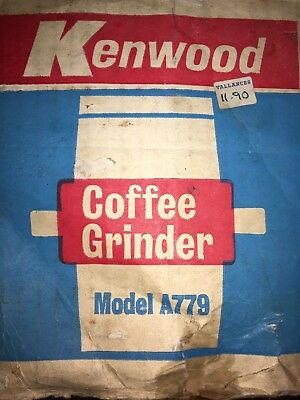 KENWOOD CHEF - Coffee Grinder A779 - (Fits A700, A701a, A707 and A717).