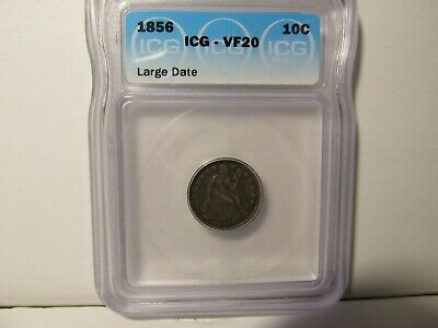 "1856 Liberty Seated Dime ""large Date"" Xf Condition"