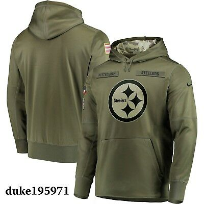 Nike Pittsburgh Steelers 2018 Mens NFL Salute to Service Therma STS Hoodie XL
