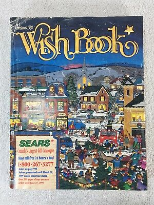 Sears Wishbook Cataloge 1998 Christmas Toys Magazine Shopping Ordering Reference