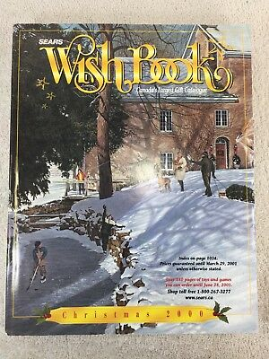 Sears Wishbook Cataloge 2000 Christmas Toys Magazine Shopping Ordering Reference