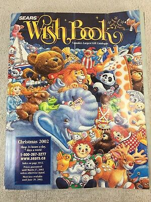 Sears Wishbook Cataloge 2002 Christmas Toys Magazine Shopping Ordering Reference
