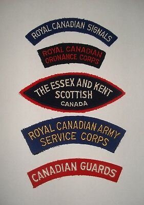 Small Lot of Canadian Army Cloth Shoulder Flashes