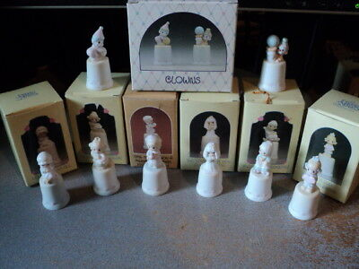 Precious Moments Thimbles 8 in all w/ Original Boxes in Excellent Condition!