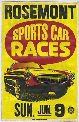 1960's Volvo P 1800 Batwing Race Vintage Advertising Poster 11x17 Chicago