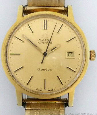 Strong Running Omega Calendar Automatic Mens Vintage Dress Watch To Restore