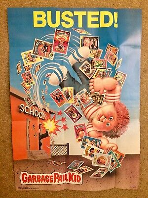 1986 Garbage Pail Kids Poster~BUSTED! #18 ~Vintage~Topps~Pack Fresh