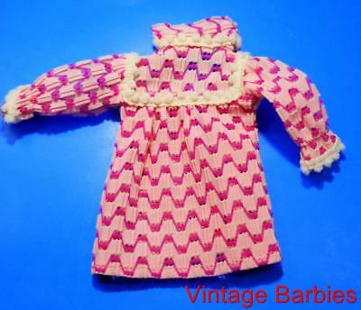 Barbie Doll Sized Pink Dress Near Mint Condition ~ Vintage 1960's