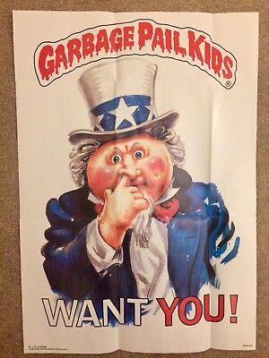 1986 Garbage Pail Kids Poster~GPK WANTS YOU #17~Vintage~Topps~Pack Fresh
