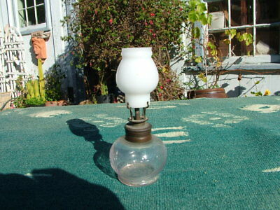 Antique Little Harry's Nightlight Minature Oil Lamp With Shade