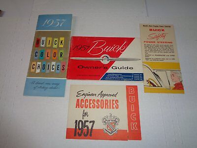 1957 Buick Owner's Manual Set / Owner's Guide / Accessories / Color Chart