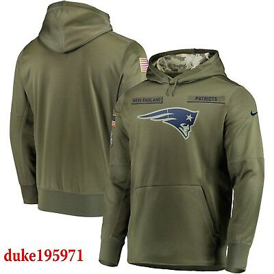 Nike New England Patriots 2018 Mens NFL Salute to Service Therma STS Hoodie XL