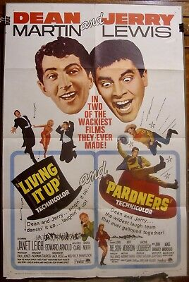 LIVING IT UP/PARDNERS (R65 Combo) 27x41 Vintage One Sheet - Martin & Lewis