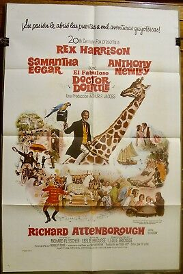 """DOCTOR DOLITTLE (1967) 27x41 Vintage One Sheet - """"For Spanish Audiences"""" - Nice!"""