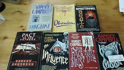 7-Ramsey Campbell pb Book Lot!! Horror!! Obsession,The Parasite,The Influence...