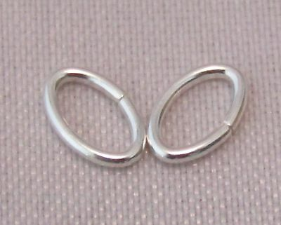 5 x 4mm 925 STERLING SILVER OVAL OPEN JUMP RING U.K. MADE QUALITY SILVER 3-4
