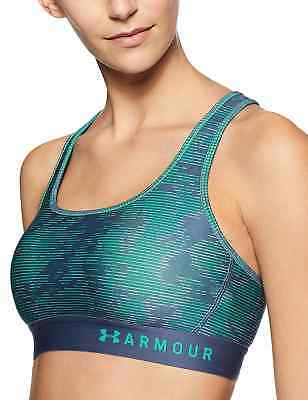 858ce22558b03 UNDER ARMOUR Women s Mid Crossback Print Sports Bra NWT Size  MEDIUM