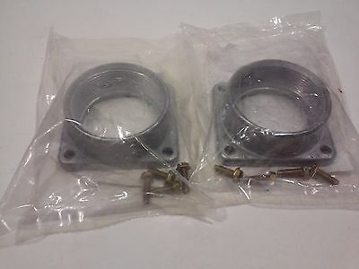"""Hubs Raintight Electrical ITE 2"""" w/2-1/4"""" X 2-1/2"""" O.C. Bolt Holes (Lot of 2)"""