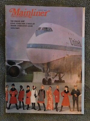United Air Lines Mainliner In-flight Magazine August 1970 Boeing 747 cover story