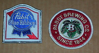 2 Different Pabst Brewing Co.PATCHES Pabst Blue Ribbon Beer & Brewing Co.Sc 1844