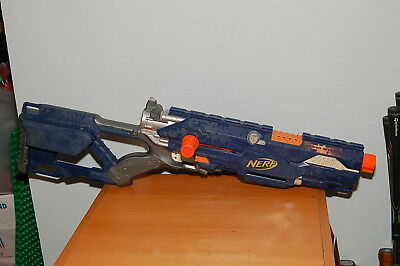 NERF Longstrike CS-6 Sniper Rifle, No front barrel (dark blue body)