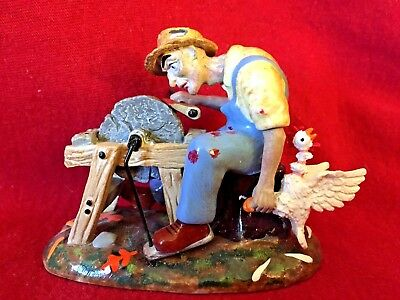 An Ax to Grind Dept 56 Snow Village Halloween Accessory 804456 farmer haunted A