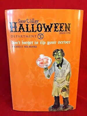 Dont Forget to Tip Your Server Dept 56 Snow Village Halloween Accessory 809361 A