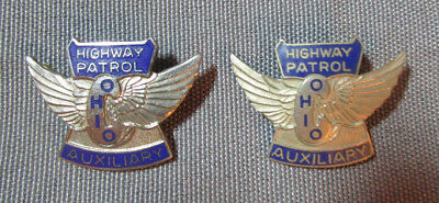 2 Ohio Auxiliary Highway Patrol Pins One Marked Auld