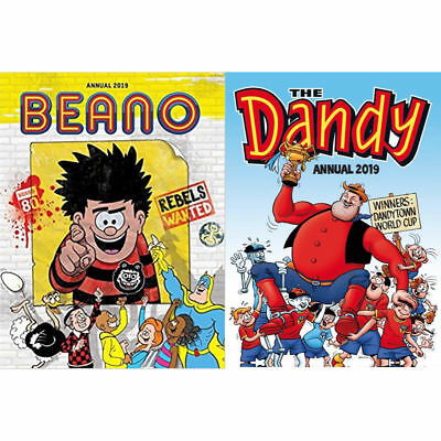 Beano and The Dandy 2019 Annual 2 Book Set, DC Thompson