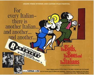 16mm Feature Film: THE BIRDS, THE BEES AND THE ITALIANS (1966) Comedy - N. MINT