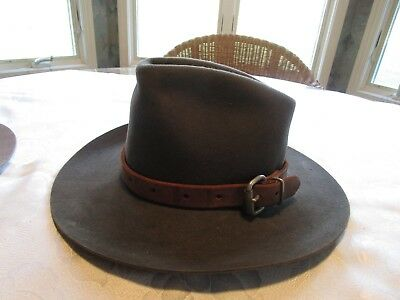 Vintage 5X Beaver Quality Stetson  Leather Band W/buckle Sharp Hat!       #b217