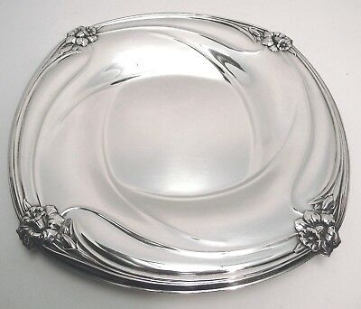 "Beautiful 12""x12"" ROGERS BROS 1847 ""DAFFODIL"" Silver Plate Tray -Great Condition"