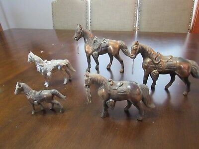 Lot of 5 Vintage Metal Carnival Prize Horses