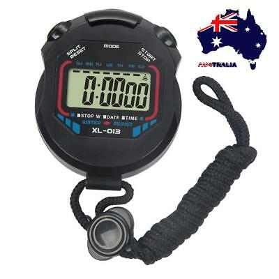 AU Handheld Stopwatch Digital Chronograph Sport Counter Timer Stop Watch Tools