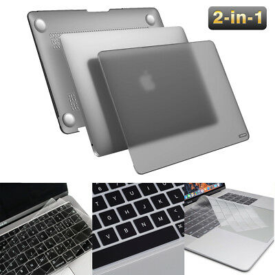 [2018 Macbook Air 13 A1932] Black Frosted Matte Hard Case LCD Keyboard Cover Lot