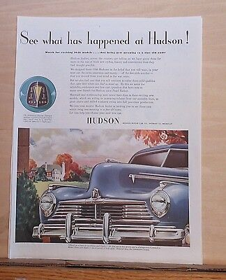 1945 magazine ad for Hudson - See What has happened at Hudson for 1946