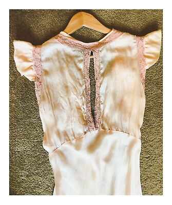 Vintage Silk Nightgown/Dress Size Small [1930's Style]