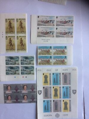 Stamps Isle Of Man 15 Sets Or Min Sheet Umm 70s And 80s